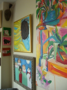 My little gallery in the studio