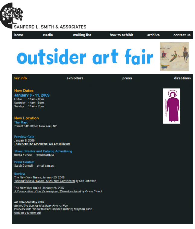 Chiz at with The BCA at The Outsider Art Fair 2009