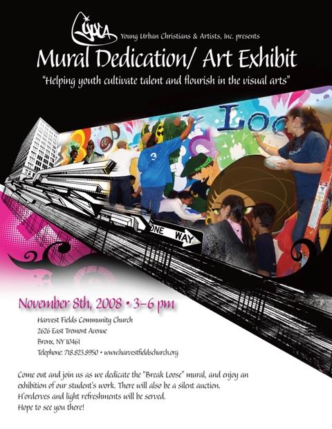 YUCA Mural Dedication & Show November 8th 3-6PM
