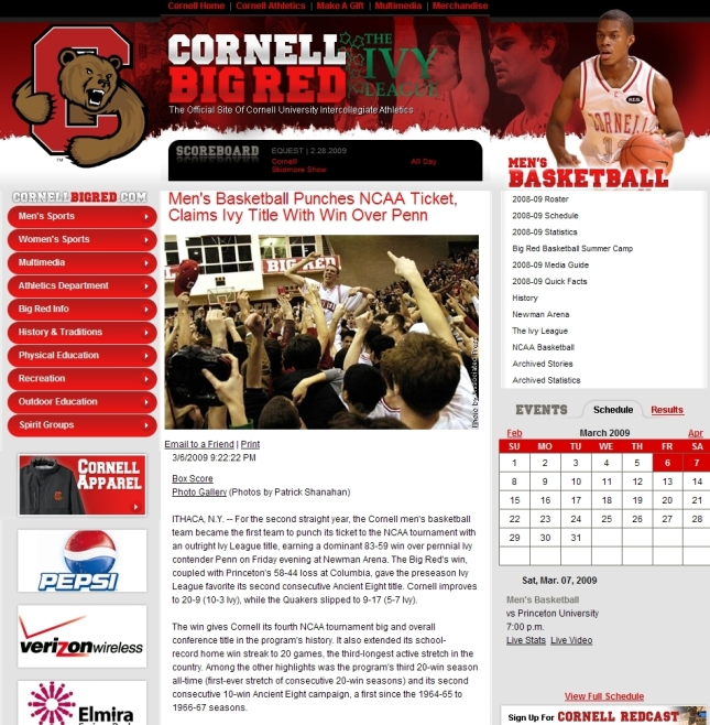 Cornell is going to the BiG Dance 2 Years in a ROW!!!